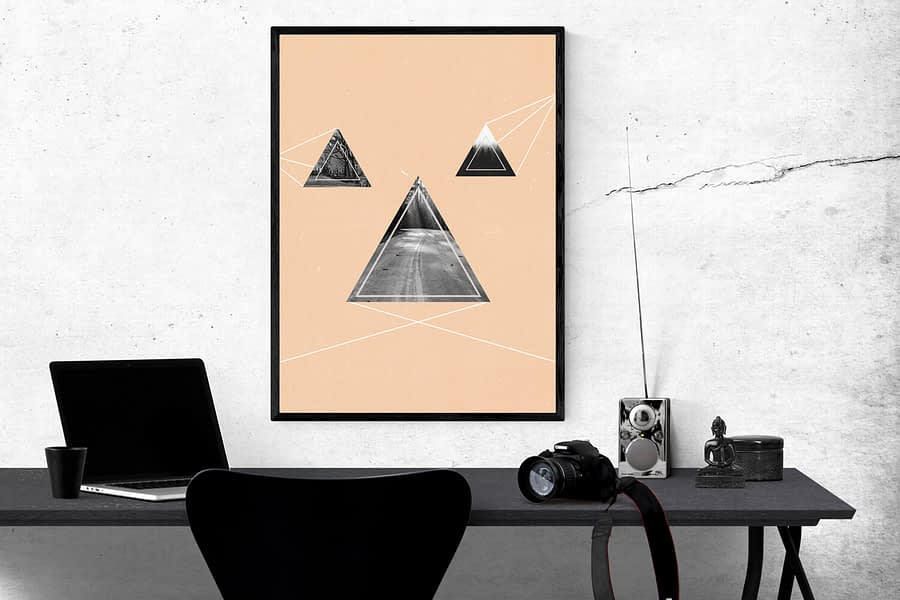 Abstract Shapes Poster - Moderne Muurdecoratie