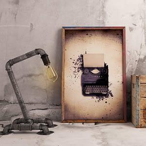 Typemachine vintage poster en print