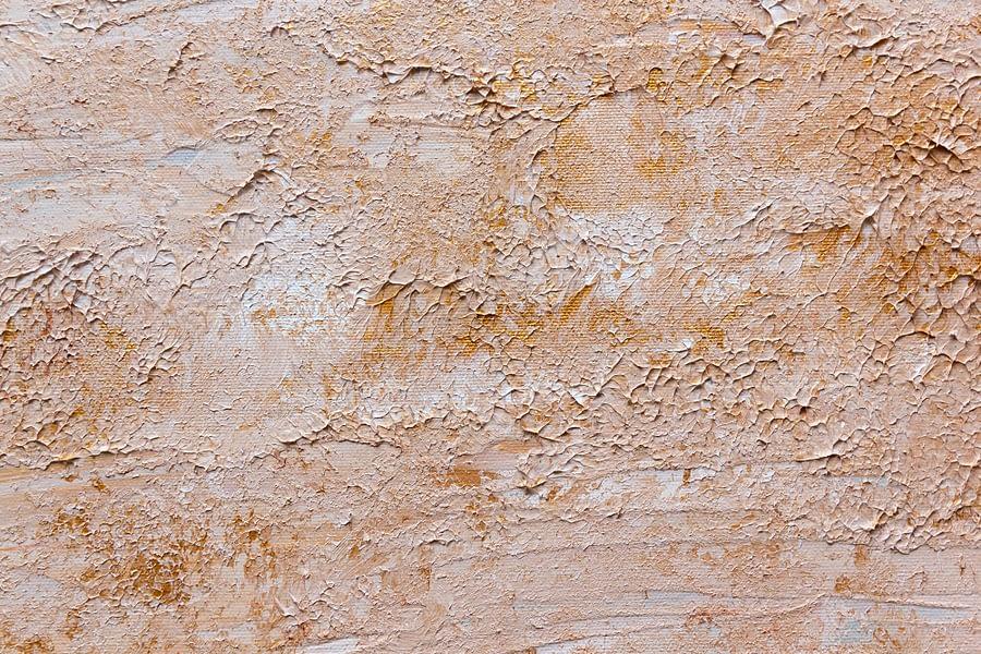 zand op abstract schilderij van het strand