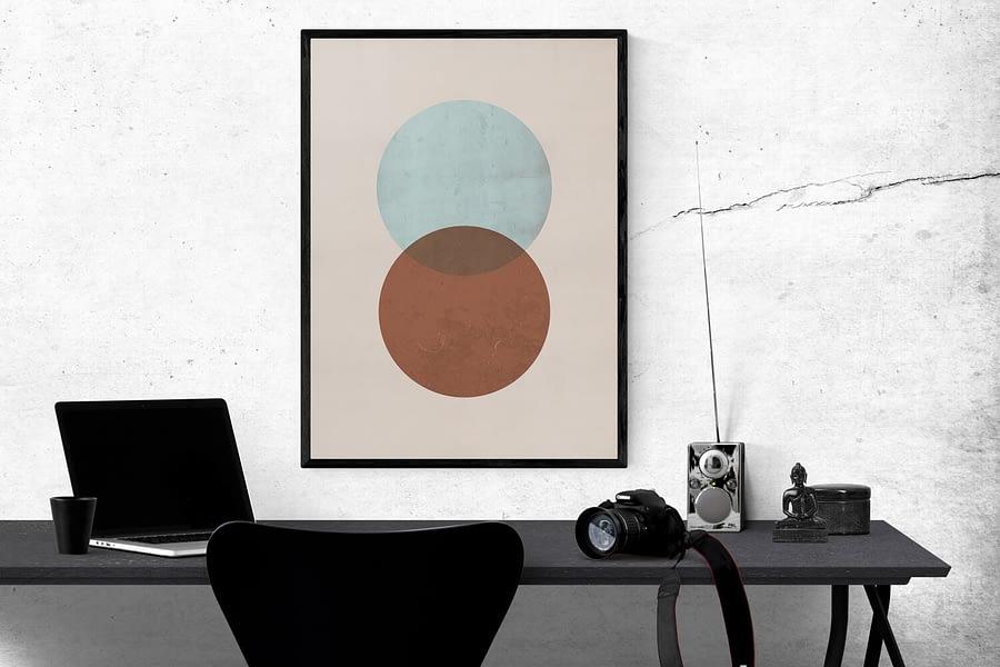 Grungy Cirkels Poster - Scandinavische Wanddecoratie