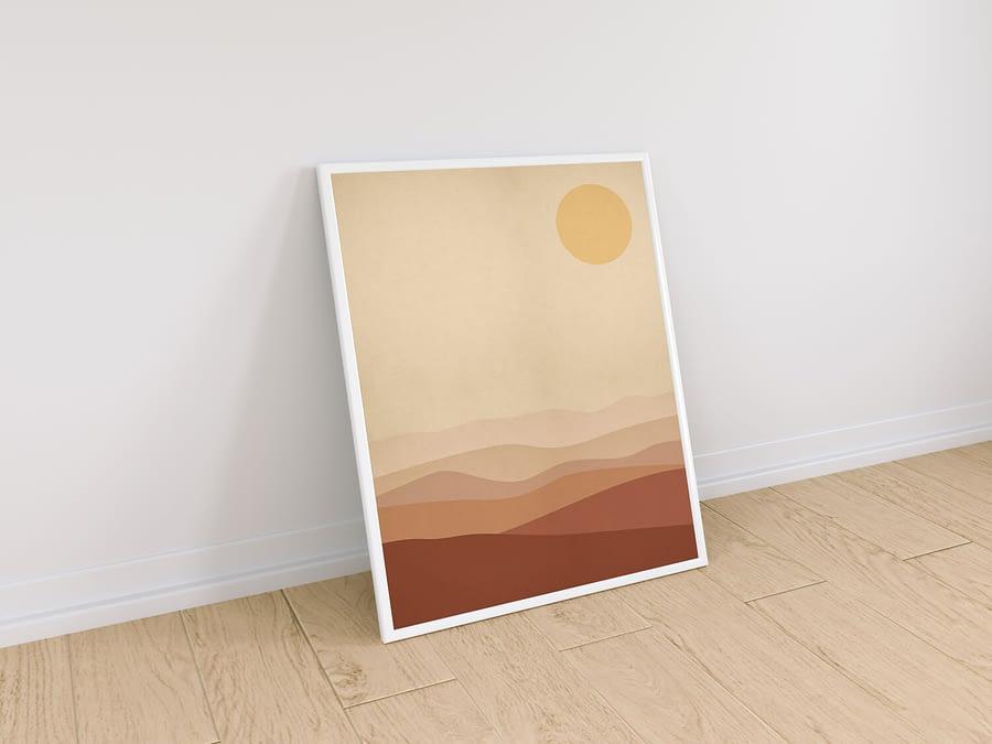Burnt Orange Landscape - Scandinavische Wanddecoratie