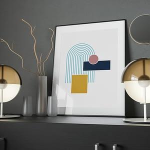 Bright Geometry Poster - Geometrische Wanddecoratie