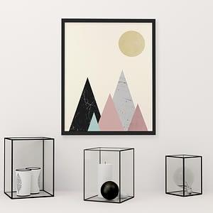Minimalist Mountains Poster - Scandinavische Wanddecoratie