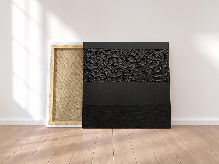 Tweeluik Black & White - Abstracte Zwart-Wit Schilderijen
