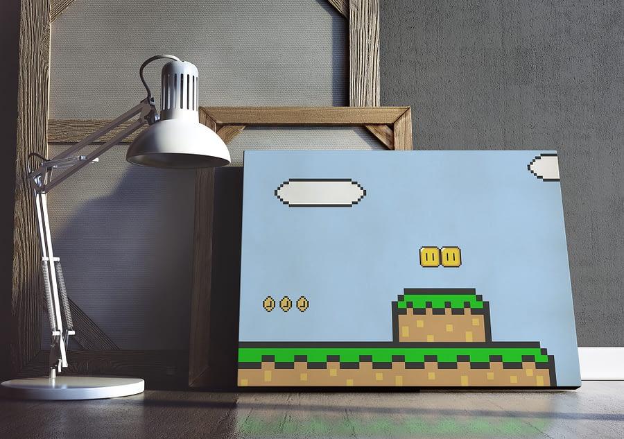 pixel art poster en print - retro games